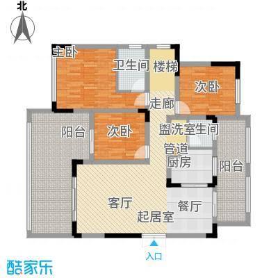 江山领秀137.00㎡一期1号楼跃层洋房B5户型