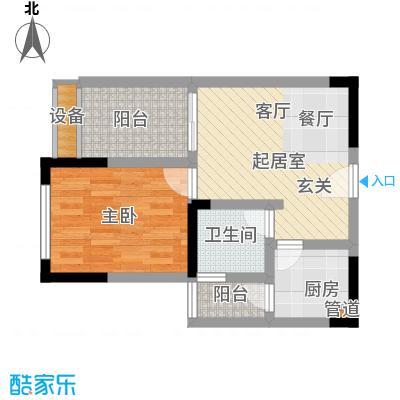 东邦城市广场39.84㎡三期13号楼标准层2号房户型