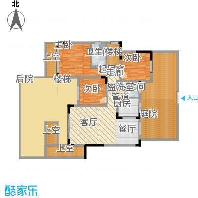 江山领秀127.00㎡一期1号楼跃层洋房B4户型