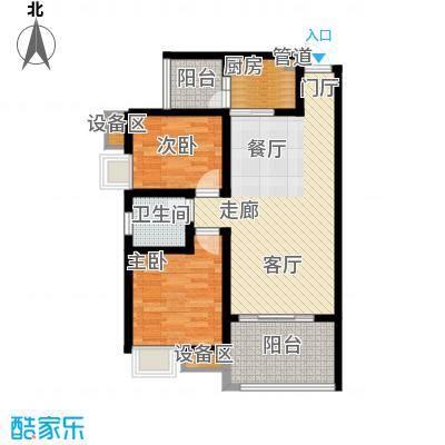 龙乡苑铜新花园78.89㎡一期3-6号楼标准层D2户型