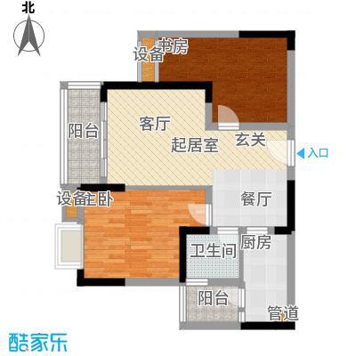 东邦城市广场58.71㎡三期9号楼标准层2/5号房户型