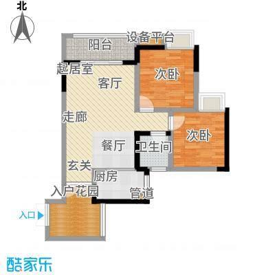 新港左岸陈桥64.23㎡二期5、6号楼标准层4号户型