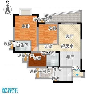 上海城三期天域94.00㎡三期17/19幢标准层01/04号房户型