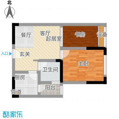 东邦城市广场39.79㎡三期13号楼标准层6号房户型