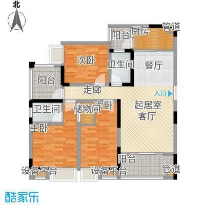 新港左岸陈桥103.46㎡二期5、6号楼标准层1号户型
