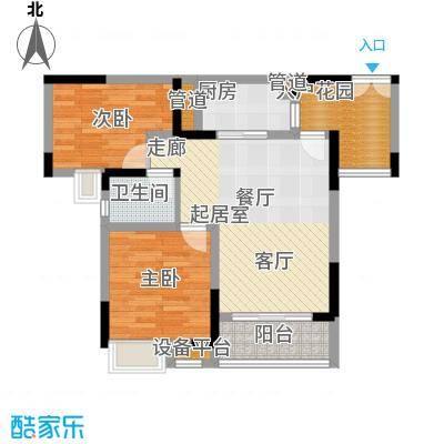 新港左岸陈桥63.15㎡二期5、6号楼标准层6号房户型