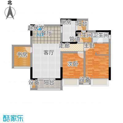 新港左岸陈桥80.38㎡一期1、2、3号楼A标准层户型