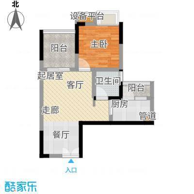 新港左岸陈桥45.22㎡一期1、2、3号楼C标准层户型