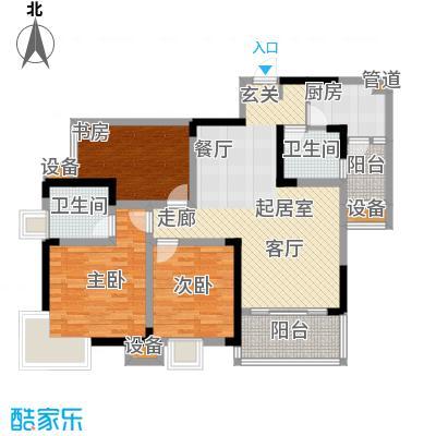 东邦城市广场88.63㎡三期9号楼标准层1/6号房户型