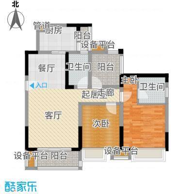 新港左岸陈桥78.38㎡二期5、6号楼标准层5号户型