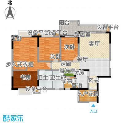 上海城三期天域140.37㎡一期21/23栋标准层1/4号房户型