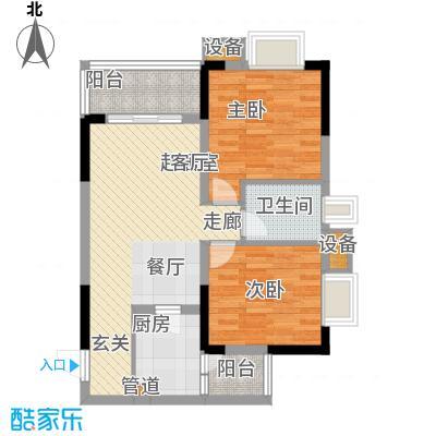 东邦城市广场61.43㎡三期13号楼标准层5/7号房户型