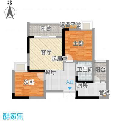 新港左岸陈桥57.44㎡二期5、6号楼标准层3号户型