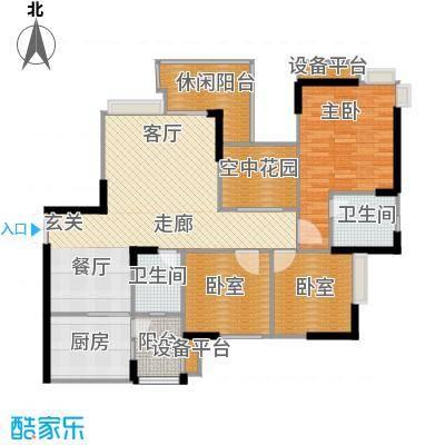 锦上华庭北区观苑109.92㎡二期4/5栋标准层3/5号房户型