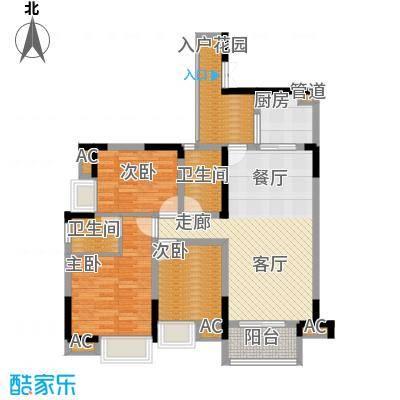 中冶黛山壹品104.08㎡一期4栋1、6号房标准层户型
