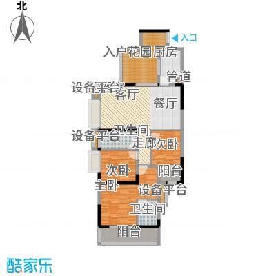 中冶重庆早晨110.00㎡1期4号楼5、6号房标准层户型