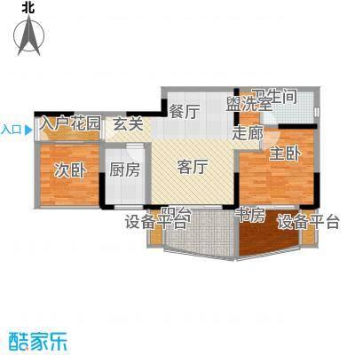 瀛嘉帝逸城73.81㎡二期8、9号楼标准层E5户型