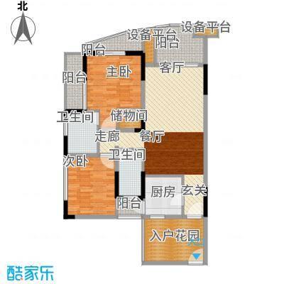 瀛嘉帝逸城91.50㎡一期15号楼标准层M1户型