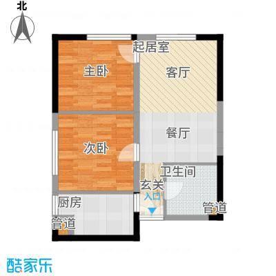 祈年悦城63.55㎡二号楼2-3/8-9号面积6355m户型