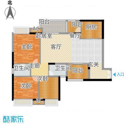 重庆天地雍江悦庭117.00㎡一期T5面积11700m户型