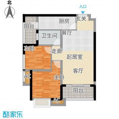 重庆天地雍江悦庭69.00㎡一期T5面积6900m户型