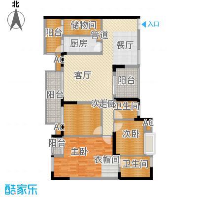 中冶黛山壹品142.40㎡一期4栋2、5号房标准层户型