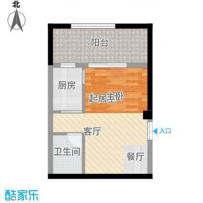 中冶重庆早晨35.43㎡1期超高层1号楼标准层1、14号房户型