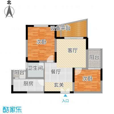 瀛嘉帝逸城83.16㎡二期8、9号楼标准层E3户型