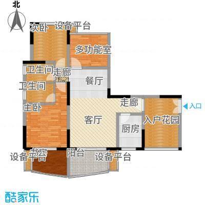 瀛嘉帝逸城104.18㎡二期8、9号楼标准层E2户型