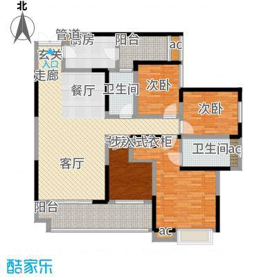 斗十千溯园146.35㎡一期1号楼标准层5、6号房户型