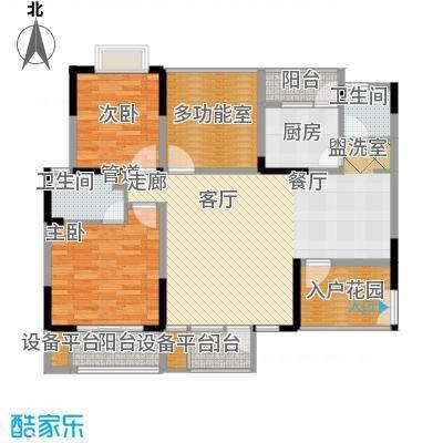 瀛嘉帝逸城111.34㎡一期F5标准层户型