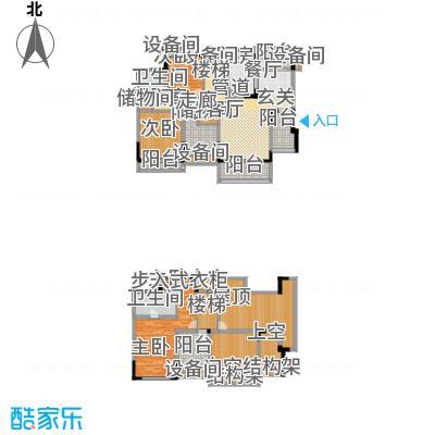 劲力五星城自由地156.00㎡三期3、4、5号楼五六层D1户型
