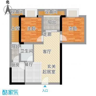 劲力五星城自由地53.00㎡二期6号楼标准层优+公寓户型