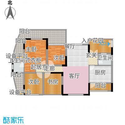 瀛嘉帝逸城136.76㎡一期M2标准层户型