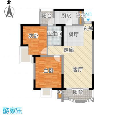 芳草地广通山庄84.00㎡面积8400m户型