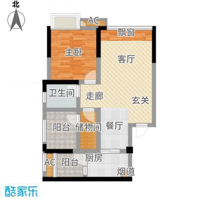 正源缙云山水69.27㎡一期7号楼一单元标准层041室户型