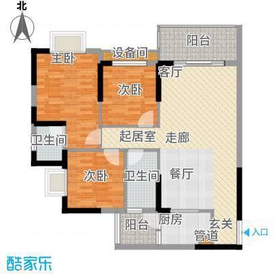 桓大东方国际109.29㎡一期6号楼标准层A户型
