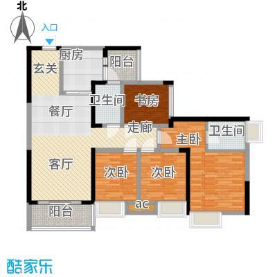 奥园金域92.22㎡一期1、4栋标准层01户型