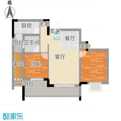 中国铁建中铁5号63.79㎡一期1号楼标准层A4户型