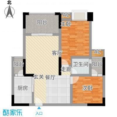 中国铁建中铁5号67.92㎡一期1号楼标准层A3户型