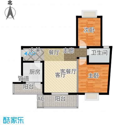 大川水岸菲尔小城77.49㎡5、6楼面积7749m户型