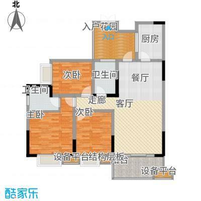三江希望城104.59㎡一期5号楼标准层5-45-5户型