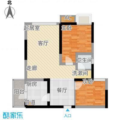 绿云国际纺织服装城81.64㎡绿云・国际纺织服装城一期10号楼标准层4号房户型