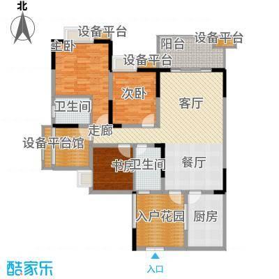 三江希望城123.14㎡一期4号楼标准层4-14-2户型