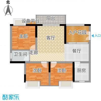 三江希望城87.54㎡一期5号楼标准层5-35-6户型