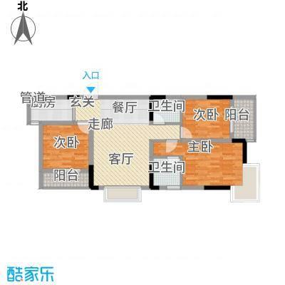 泰吉滨江二期岭澜84.12㎡一期A5、A6栋标准层3号房(售完)户型