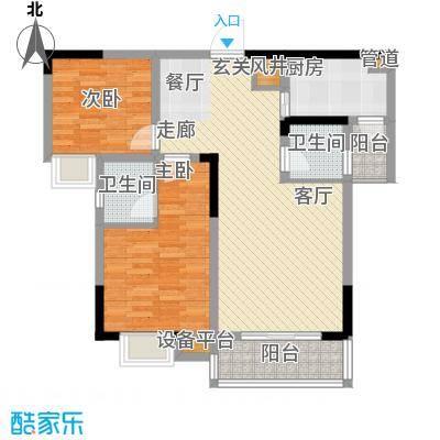 泰吉滨江二期岭澜80.78㎡一期C5栋标准层3号房(售完)户型