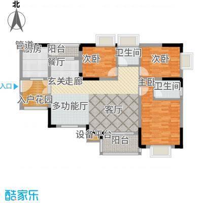 泰吉滨江二期岭澜102.59㎡一期D6栋标准层5号房户型