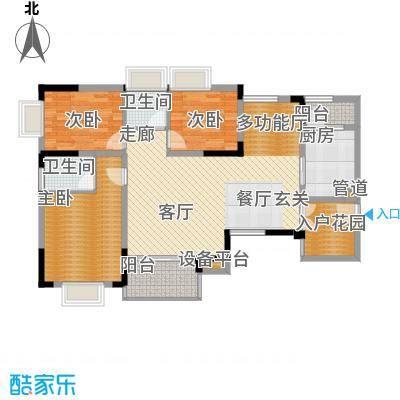 泰吉滨江二期岭澜103.31㎡一期D6栋标准层2号房户型