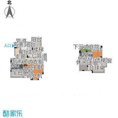 香漫溪岸207.28㎡一期1号楼2单元2楼1号A4室户型